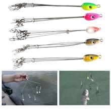 Plates-formes de pêche pivotant pratique leurres de poisson crochet de pêche équipement en acier inoxydable multifonctionnel crochet de pêche attirail combinaison