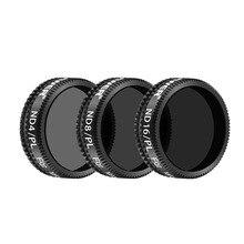 Neewer 3 Stukken Pro Lens Filter Kit Voor Dji Mavic Air Drone Quadcopter Omvat: ND4/Pl ND8/Pl ND16/Pl Filters Gemaakt Van Multi