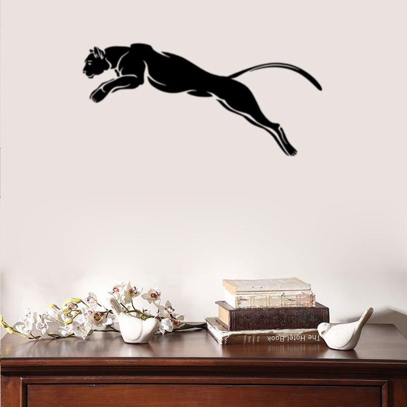 Pegatina de pared de Cheetah calcomanía Animal depredador gato salvaje Jaguar Cheetah bestia vinilo Decoración