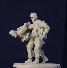 Montaje sin pintar escala 1/35 oficial de Rusia Spetsnaz y figura terrorista modelo de resina histórico