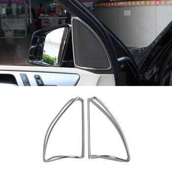 2pcs ABS Chrome Door Speaker Cover Trim Sticker For Mercedes-Benz ML Sticker W164 350 400 GL X164 450 2013-2016 Car Accessories