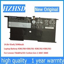 14.8V 45wh nouvelle batterie dorigine X1 pour ordinateur portable 45N1700 45N1701 45N1702 45N1703 pour Lenovo ThinkPad X1 Carbon Gen 2 20A7 20A8