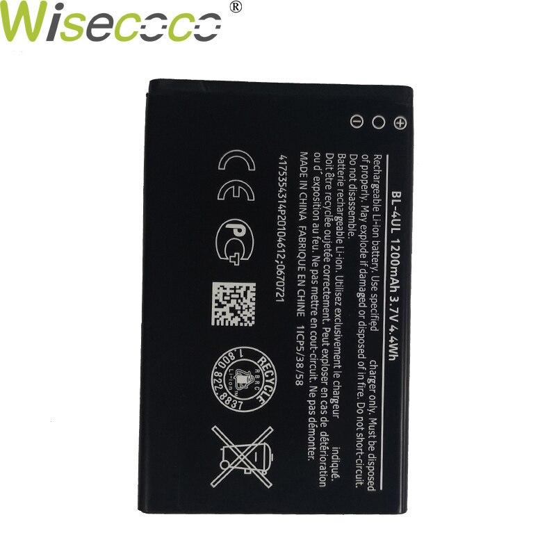 Nueva batería de BL-4UL Wisecoco Original 1200/1600mAh para Nokia Asha 225 RM-1011 1012 1126 1172 TA-1030 teléfono con número de seguimiento