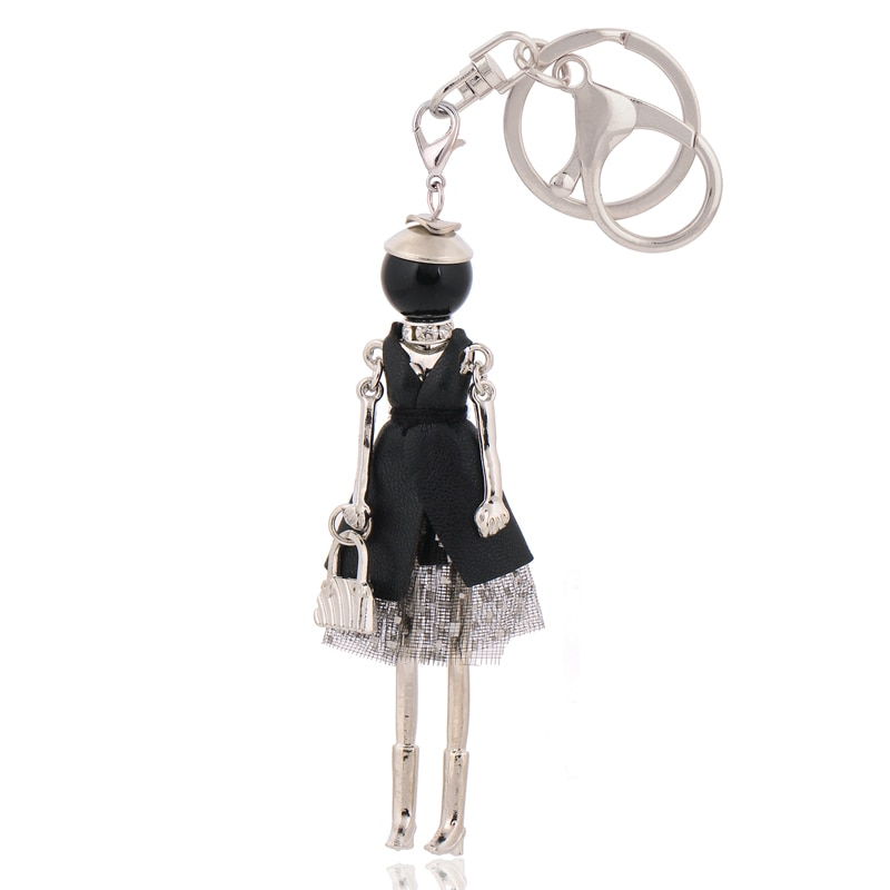 LLavero de moda nuevo llavero adorable bolso amuletos coche colgante para mujer bolso