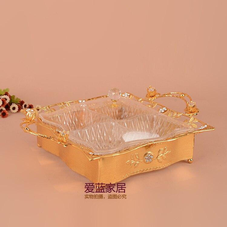 Caja para dulces Europea cubierta de cassette semillas frutos secos caja de dulces de boda que contiene adornos festivos de frutas secas