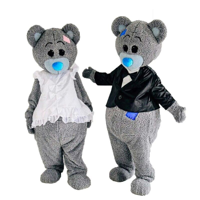 2019 nuevo disfraz de la mascota del oso de peluche disfraz de Halloween Cosplay divertido animal oso mascota disfraz Adut