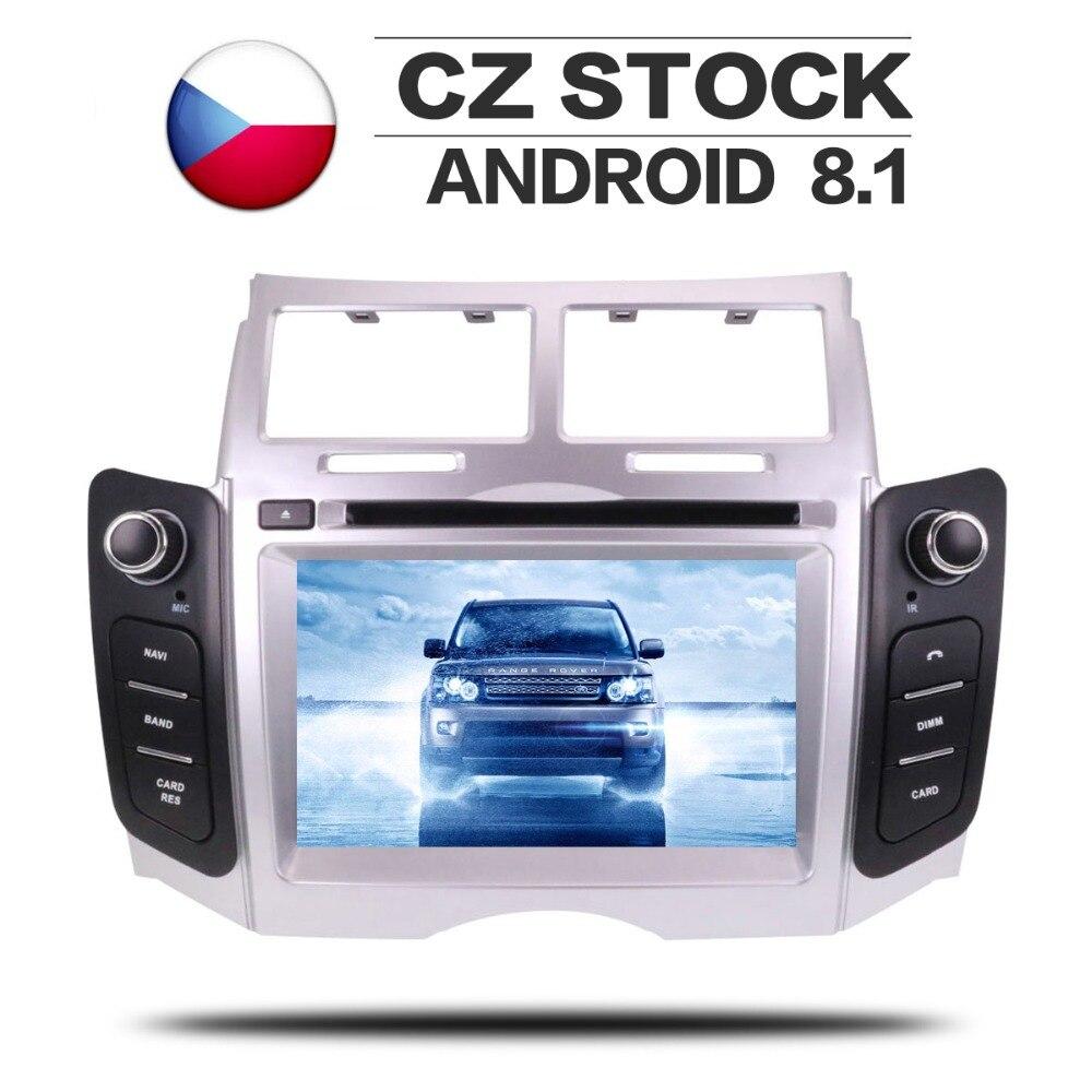 Android 8.1 rádio estéreo gps para toyota yaris 2005 2006 2007 2008 2009 2010 2011 carro dvd player de navegação multimídia ips automático