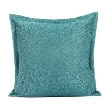 Housse de coussin en lin de 18x18   Housse de coussin bleu, housse de oreiller en antélope avec fermeture éclair, coquille Euro carrée ou coussin lombaire