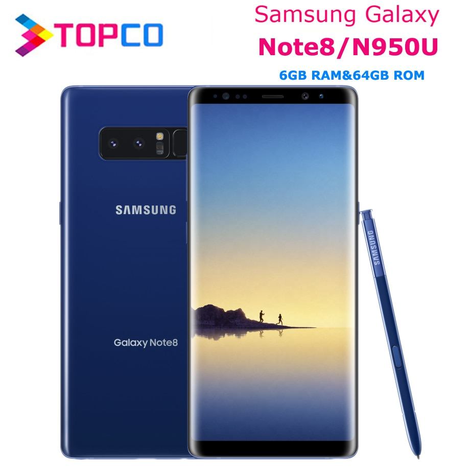 "Samsung Galaxy Note8 Nota 8 N950U desbloqueado 4G LTE teléfono Android Octa Core 6,3 ""Dual 12MP a cámaras RAM 6GB ROM 64GB 3300mAh"