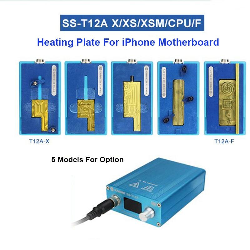Para iPhone X/XS MAX SS-T12A iPhone placa separador de calefacción estación CPU IC Chips desmontaje removedor de pegamento