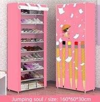 Shoe cabinet 10-layer 9-grid Non-woven fabric Metal 160x60x30cm Shoe rack organizer removable shoe storage home furniture C118