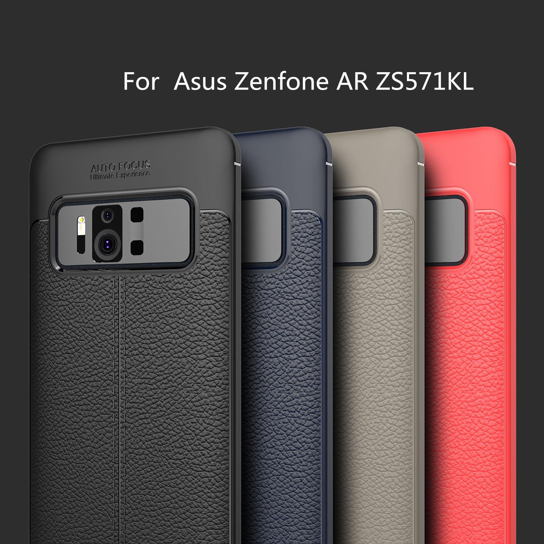 HATOLY para Capa Asus Zenfone AR ZS571KL caso Litchi TPU para Asus...