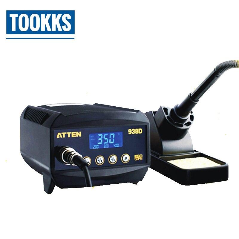 220 V, 60 W, ATTEN, AT938D, estación Digital de soldador, estación de hierro SMD
