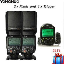 2X YONGNUO YN600EX-RT II 2,4G inalámbrico HSS maestro Flash para Canon cámara 600EX-RT + YN-E3-RT TTL disparador de flash + difusor