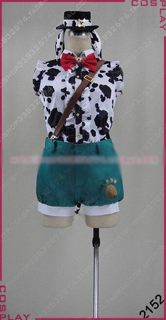 LoveLive Zoo éveille Kousaka Honoka Cosplay Costume Halloween uniforme tenue chemise + pantalon + chapeau + gants + chaussettes sur mesure