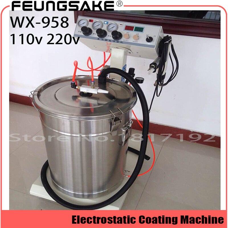 Электростатическая Машина для нанесения порошкового покрытия, машина для нанесения электростатического порошкового покрытия, пистолет для распыления краски переменного тока 110 В 220 В