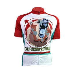 CALIFORNIA Padrão estrangeiro SportsWear dos homens Jersey Curto Moto Manga Zíper Completo Pro Ciclismo Jerseys Ciclismo Ropa Tamanho XS PARA 5XL