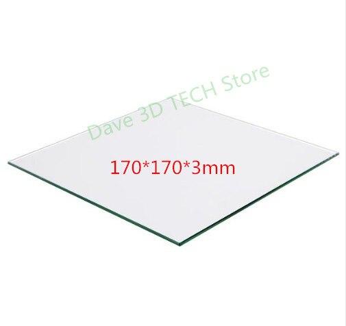 سرير زجاجي من البورسليكات لأجزاء الطابعة ثلاثية الأبعاد ، أبعاد 170 × 170 مللي متر ، متوافق مع Lulzbot mini