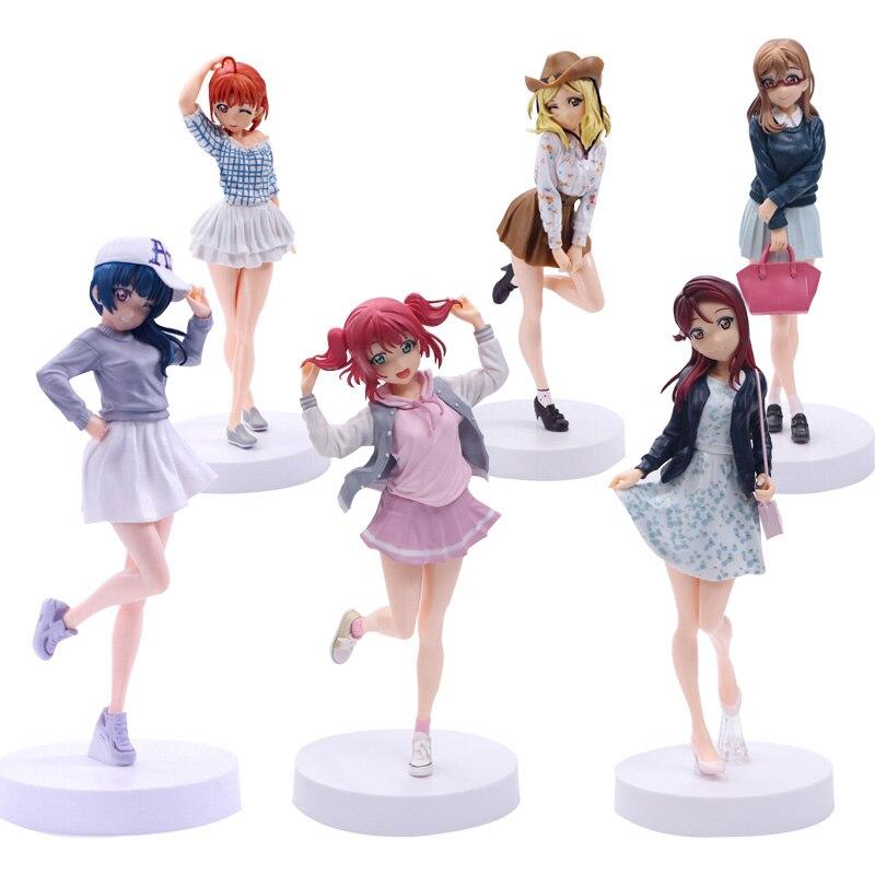24cm Anime amor vivo EXQ sol la escuela de niñas ídolo proyecto kunikida hanamaru Ruby Kurosawa figura PVC juguetes de modelos coleccionables