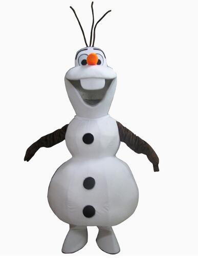 Sonriendo disfraz de mascota Olaf trabajador para fiesta de Halloween actividad fantasía de Navidad tamaño adulto envío gratis
