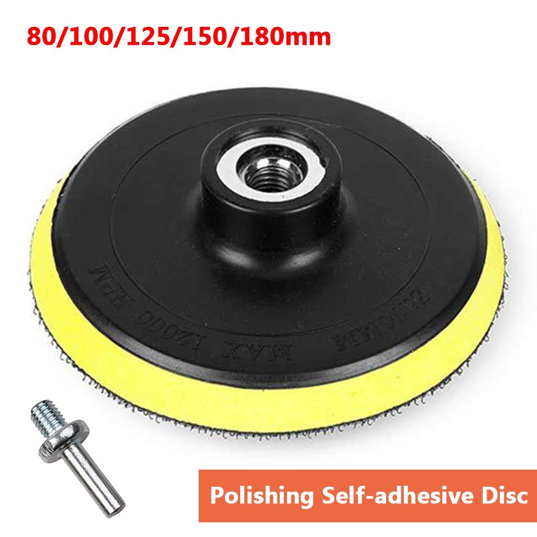 80-180mm Polishing Self-adhesive Disc Polishing Sandpaper Sheet Adhesive Disc Chuck Angle Grinder Sticky Plate for Car