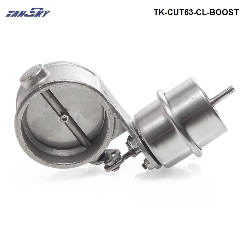 Válvula de controle de escape conjunto impulso atuador fechado estilo 63mm pressão da tubulação cerca de 1 barra para ford focus TK-CUT63-CL-BOOST