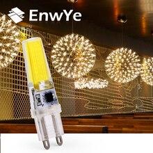 EnwYe G9 LED Lampe AC/DC 360 grad dimmbare 220V 6W COB SMD LED Beleuchtung Lichter ersetzen Halogen Scheinwerfer Kronleuchter