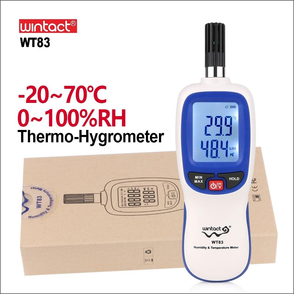 Wintaction-مقياس الحرارة الرقمي المحمول ، مقياس الرطوبة ، مقياس الرطوبة الصناعي ، جهاز التحكم في محطة الطقس WT83