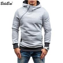 BOLUBAO Brand Men Hoodie Sweatshirt Spring New Men's Solid Color Fleece Hoodies Hip Hop Male Casual Hooded Sweatshirt EU Size
