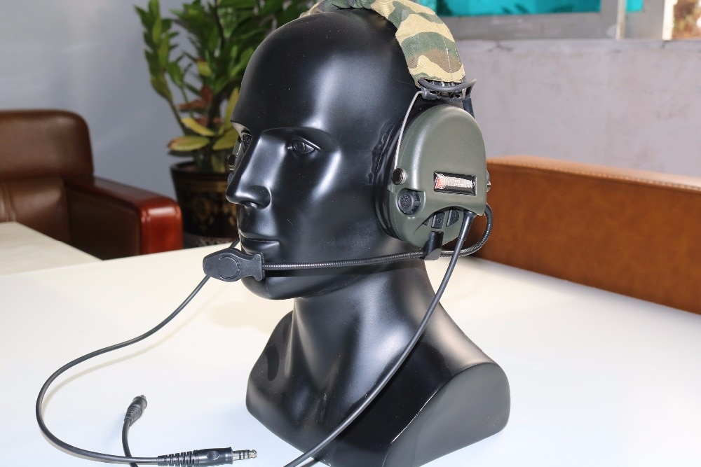 TAC-SKY SORDIN Silicone earmuff daul version Noise reduction pickup headset -FG