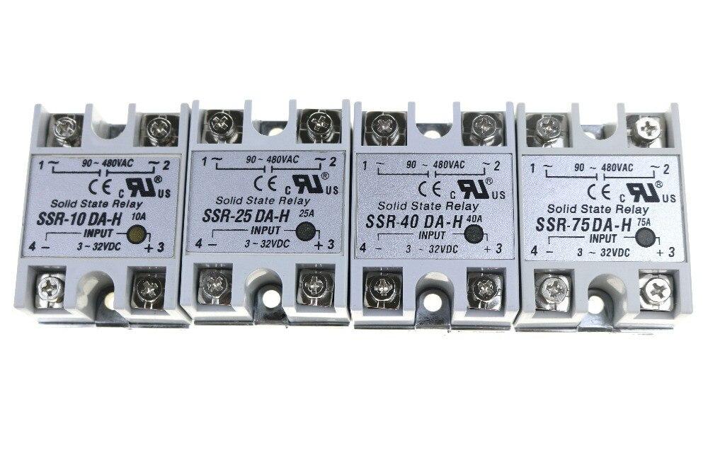 Solid State Relay SSR-10 DA  H / SSR-25 DA  H /SSR-40 DA H / SSR-75 DA H  Actually 3-32V DC TO 90-480VAC