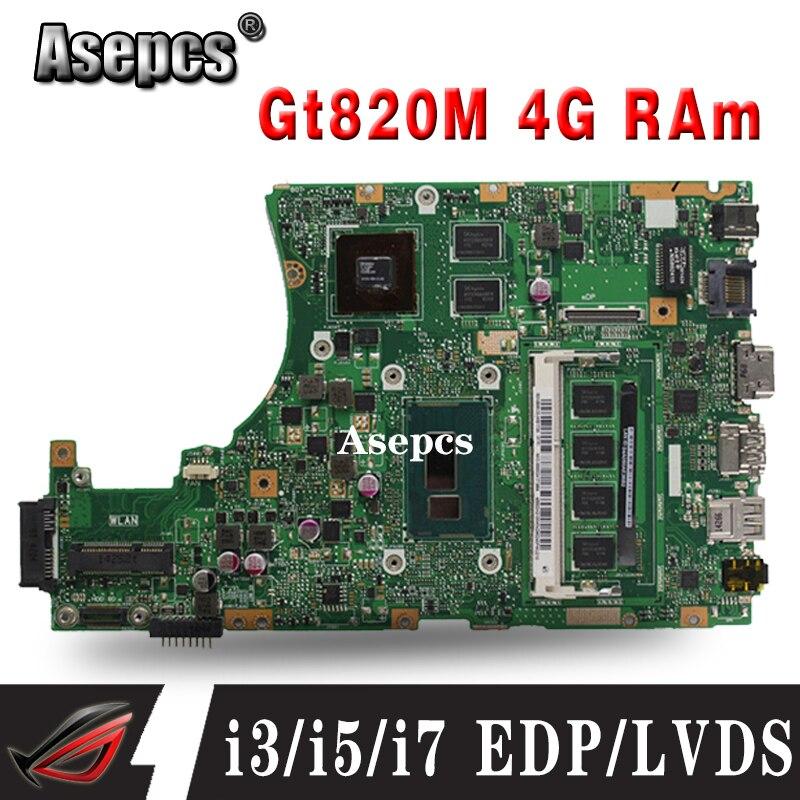 X455LD اللوحة ل For Asus X455L X455LJ X455LN X455LD A455L F455L K455L اللوحة المحمول 4G RAm Gt820M i3/i5/i7 EDP/LVDS