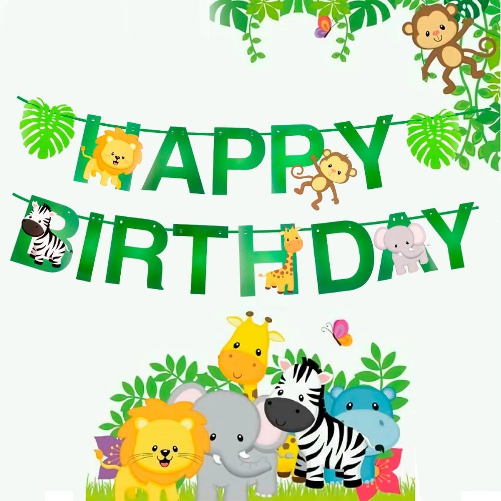 Jungle Animal Ballons Birthday Jungle Party Safari Party Jungle Theme Party Baloon Birthday Party Decor Kid Birthday Balloons
