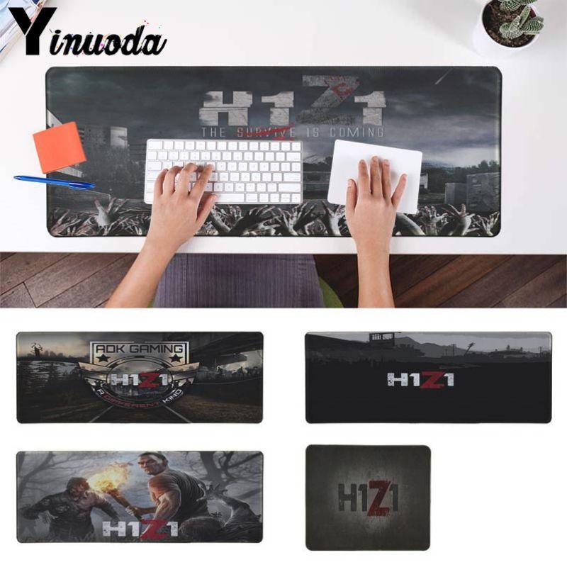 Yinuoda nuevos campos de batalla H1Z1 teclados Mat alfombrilla de ratón de goma para jugar escritorio Mat gran alfombrilla para ratón de juegos de Borde de bloqueo Mousepad
