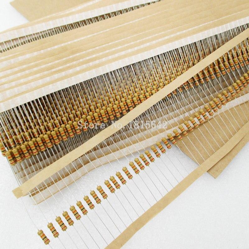 100 PÇS/LOTE 1/2 W Filme De Carbono Resistores Resistência Anel Cor de 5% de Erro R 1R2 ohm 1.2 Ohm