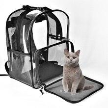 Sac à dos transporteur chat pour animaux   Sac Transparent pour chat en plein air, sacs à bandoulière respirants en maille pour chaton, fournitures danimaux