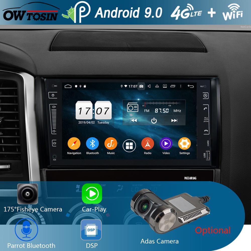 "9 ""IPS 8Core 4G + 64G Android 9,0 reproductor de DVD del coche GPS Radio Multimedia para Toyota Tundra Sequoia 2007-2018 DSP CarPlay loro BT"