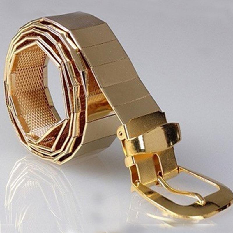 CETIRI New fashion men metal alloy belts for jeans pin buckle belt / gold silver black men and women belts accessories