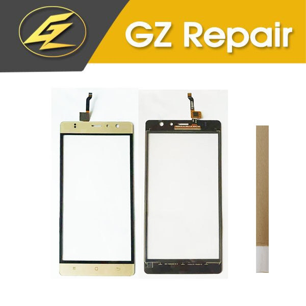 5.5 Inch For Gooweel M17 Touch Screen Sensor Glass Panel Digitizer White Black Gold Color With Tape