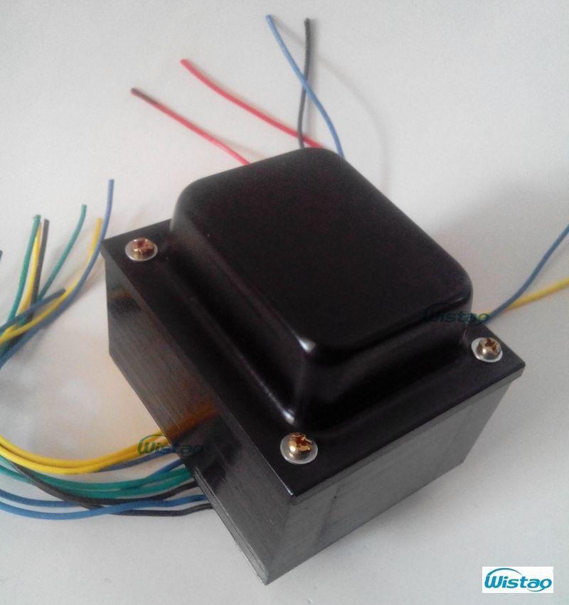 Transformador de potencia de amplificador de tubo de 165W 320VX2 6.3VX2 5VX1 3.15VX2 hojas de acero de silicio sin oxígeno cable de cobre HIFI Audio DIY
