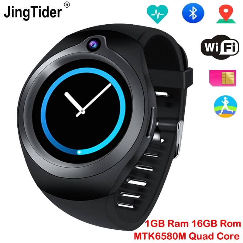 "JingTider S216 Android Smart Watch MTK6580M Quad Core 1GB/16GB GPS Bluetooth Smartwatch Heart Rate Monitor 1.3"" 3G Sim Card Wifi"