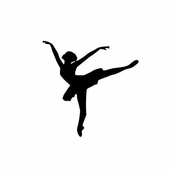Graciosa Menina Ballet Bailarina Meninas Decalques de Vinil Adesivo de Carro Janela Decalque Bonito Mulheres Decoração Do Carro L611
