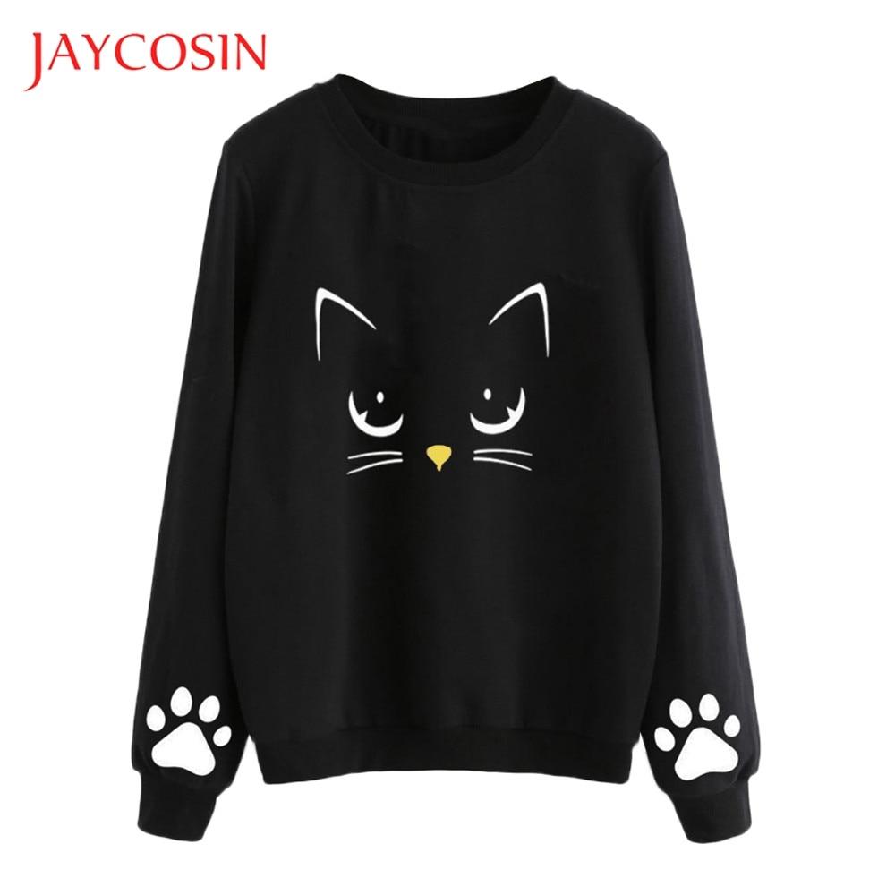 Blusa de otoño e invierno de manga larga para mujer de JAYCOSIN, blusa Regular de cuello redondo y con tus pantalones cortos favoritos