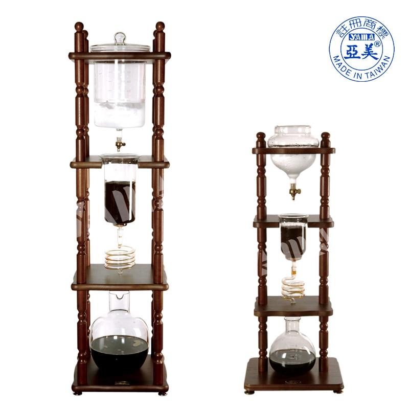 Business use water drip maker Dutch coffee machine ice cold brew coffee/tea pot glass wooden1050ml/3000ml
