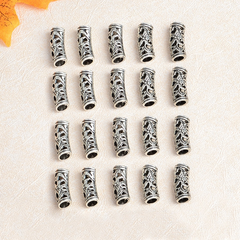 20 шт./компл. Руна викингов, бисер для бороды, коса для волос, винтажные викинговые шарики для браслета, ожерелий, ювелирных изделий в подарок