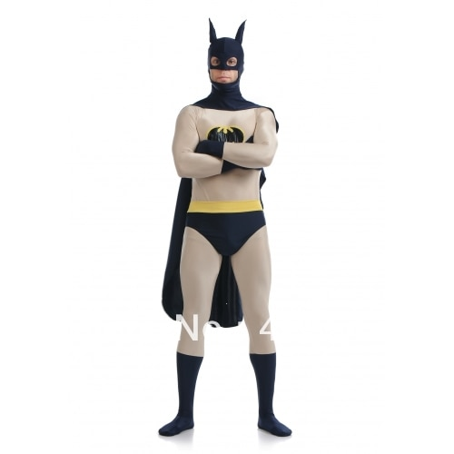 Batman costume dark blue & Grey Batman Superhero Costume Halloween Costumes
