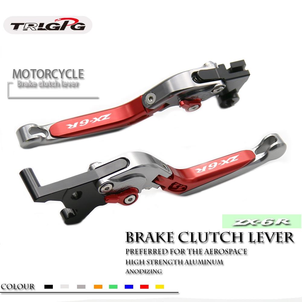 Palancas de embrague de freno plegables para motocicleta CNC, para Kawasaki Ninja ZX6R ZX636R ZX6RR ZX-6RR 2000 2001 2002 2003 2004