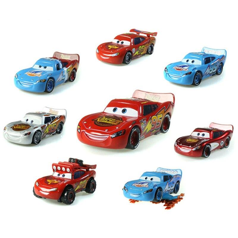 Disney offres spéciales Pixar Cars 17 différents Styles or Dinoco bleu noir Police foudre McQueen moulé sous pression en métal jouets voiture pour les enfants