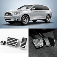 A Set Aluminium Non Slip Foot Rest Fuel Gas Brake Pedal Cover For Nissan Morano/Teana Infiniti QX60/QX80