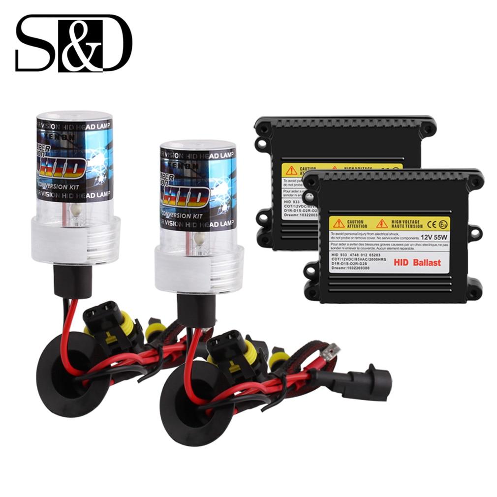 Xenon Hid Conversion Kit H7 H11 H1 H3 9005 9006 880 881 H8 H9 HB3 HB4 Bulb Car Light Auto Headlight w/ Slim Ballast 55W D030